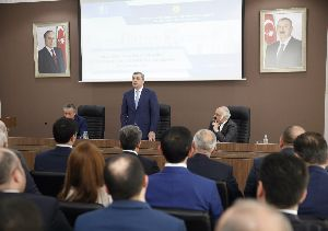 Report of a meeting held on the 1st anniversary of the State Agency for Housing Construction under the President of the Republic of Azerbaijan