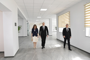 President Ilham Aliyev attends the inauguration of the Hovsan Residential Complex