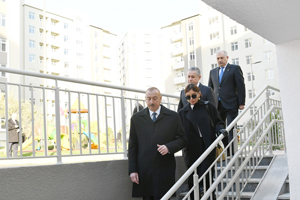 Inauguration of the Yasamal Residential Complex of the State Housing Development Agency takes place. President Ilham Aliyev and First Lady Mehriban Aliyeva attend the opening ceremony