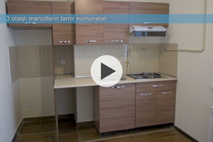 Examples of interior finishing in the Hovsan Residential Complex is presented