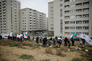 The State Housing Development Agency and Nasimi district Organization of the New Azerbaijan Party arrange a tree-planting action dedicated to the Azerbaijani Youth Day