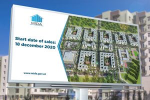 An announcement is made about the sale of apartments on preferential terms at the Hovsan Residential Complex – the next project of the SHDA