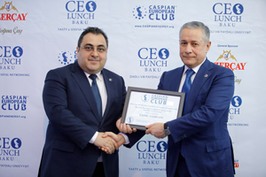 Chairman of the Management Board of the State Housing Development Agency becomes honorable guest of CEO Lunch Baku
