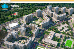 The first project of MIDA has been launched in Yasamal Residential Complex website.