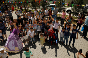 A festivity is arranged at the Yasamal Residential Complex on the occasion of June 1st – the International Day of Protection of Children
