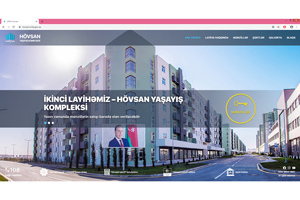A web-page of the Hovsan Residential Complex is commissioned